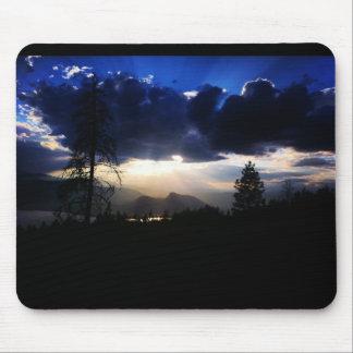 Dark Blue Clouds Sun Mousepad