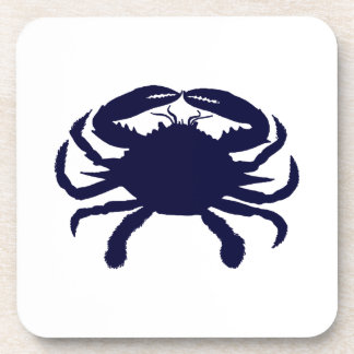 Dark Blue Crab Coaster