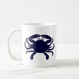 Dark Blue Crab Coffee Mug