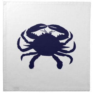 Dark Blue Crab Napkin