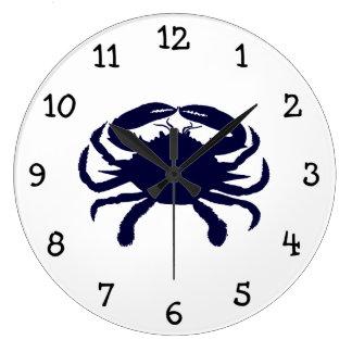 Dark Blue Crab Wall Clock