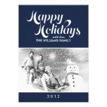 Dark Blue Custom Holiday Cards Custom Invitation