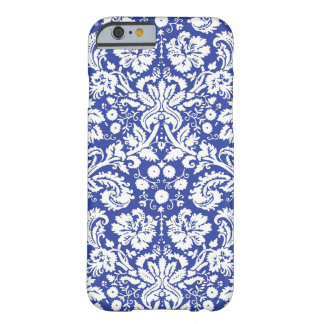 Dark blue damask pattern barely there iPhone 6 case