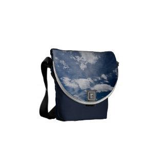 Dark blue deep sky courier bag