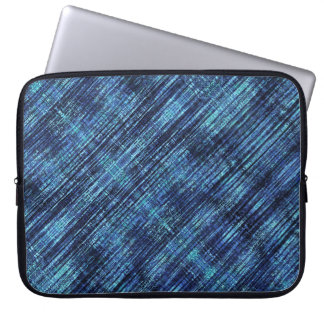 Dark Blue Denim Pattern Laptop Sleeve