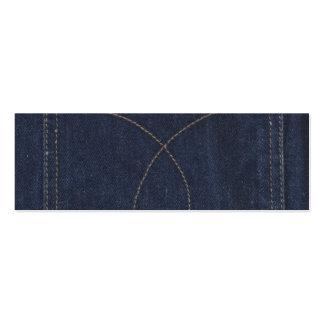Dark Blue Denim Pocket Business Cards