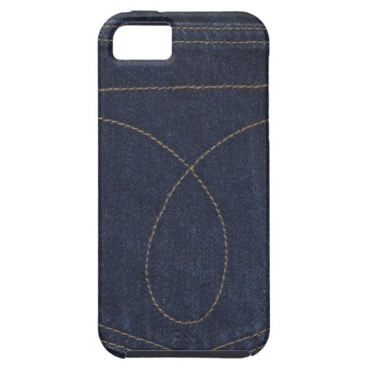 Dark Blue Denim Pocket Tough iPhone 5 Case