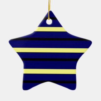Dark Blue Derby Stripe Christmas Ornament
