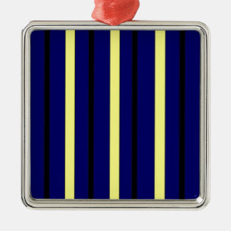 Dark Blue Derby Stripe Christmas Ornament
