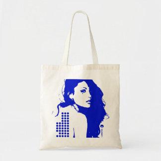 Dark Blue Disco music Tote Bag