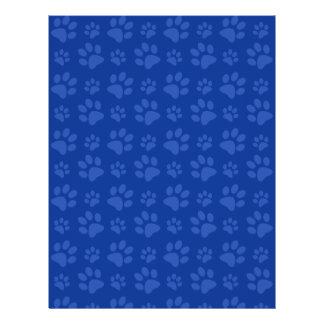 Dark blue dog paw print pattern 21.5 cm x 28 cm flyer