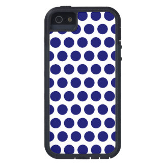 Dark Blue Dots iPhone 5 Cover