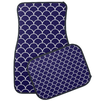 Dark Blue Dragon Scales Car Mat
