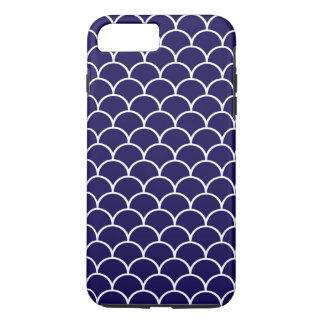 Dark Blue Dragon Scales iPhone 7 Plus Case