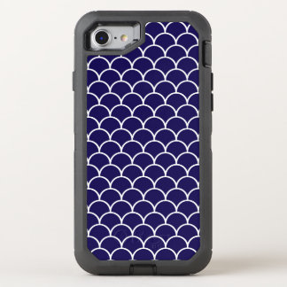 Dark Blue Dragon Scales OtterBox Defender iPhone 7 Case