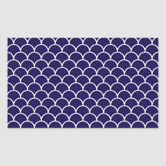 Dark Blue Dragon Scales Rectangular Sticker