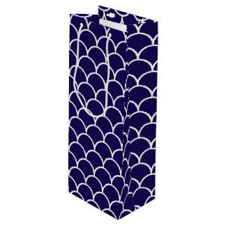 Dark Blue Dragon Scales Wine Gift Bag