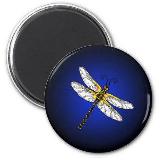 Dark Blue Dragonfly Dragonflies Magnet