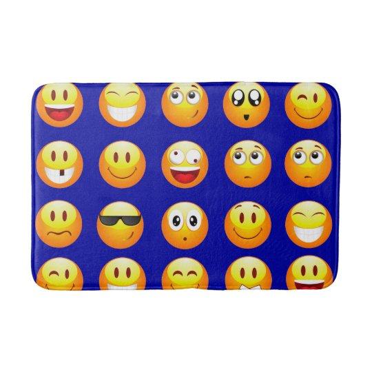dark blue emojis bathroom bathmat bath mat