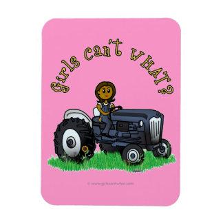 Dark Blue Farmer Girl Magnets