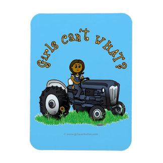 Dark Blue Farmer Girl Magnet