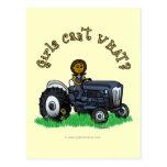 Dark Blue Farmer Girl Postcard