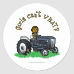Dark Blue Farmer Stickers