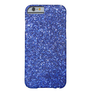 Dark blue faux glitter graphic barely there iPhone 6 case
