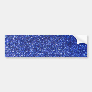 Dark blue faux glitter graphic bumper sticker