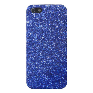 Dark blue faux glitter graphic case for iPhone 5/5S