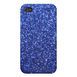 Dark blue faux glitter graphic iPhone 4 covers
