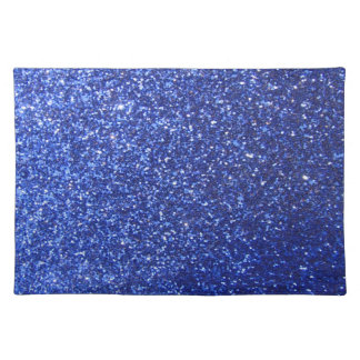 Dark blue faux glitter graphic placemat