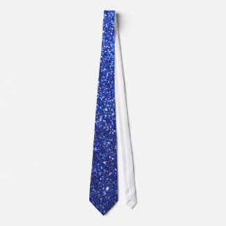 Dark blue faux glitter graphic tie