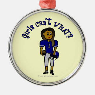 Dark Blue Football Christmas Ornament