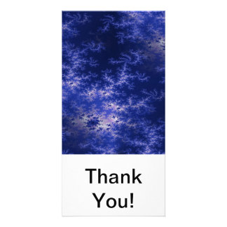 Dark Blue Fractal Photo Card