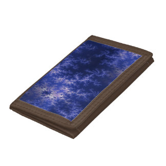 Dark Blue Fractal Tri-fold Wallet