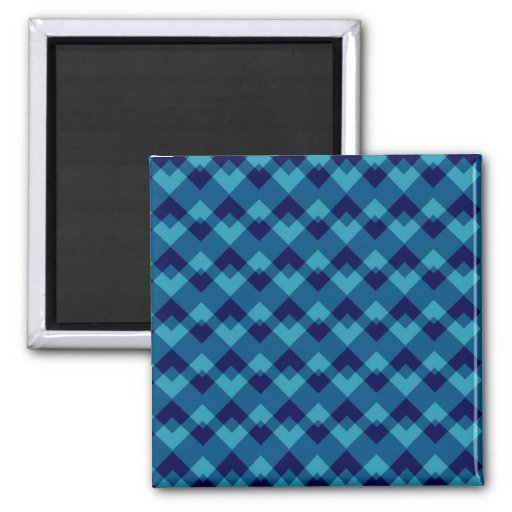 Dark Blue Geometric Pattern. Fridge Magnet