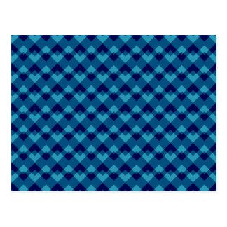 Dark Blue Geometric Pattern. Postcard