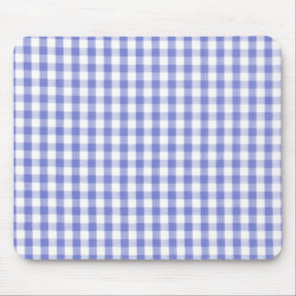 Dark blue gingham pattern mouse mat