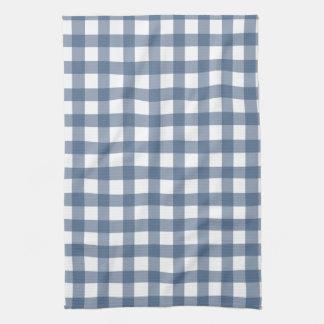 Dark Blue Gingham Towel
