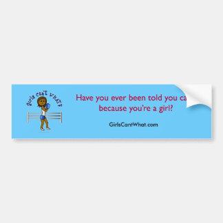 Dark Blue Girls Boxing Bumper Sticker