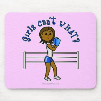 Dark Blue Girls Boxing Mousepads