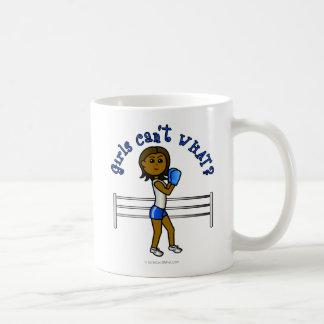 Dark Blue Girls Boxing Coffee Mugs