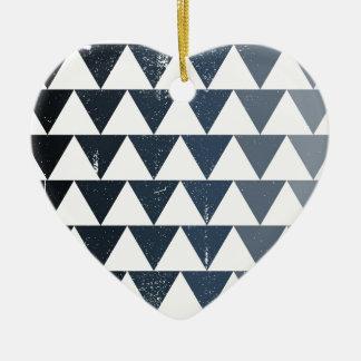 Dark Blue Gradient Ceramic Heart Decoration