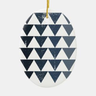 Dark Blue Gradient Ceramic Oval Decoration