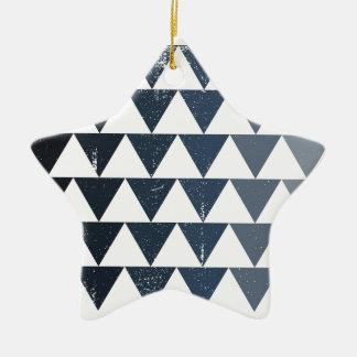 Dark Blue Gradient Ceramic Star Decoration