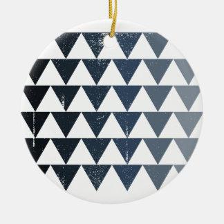 Dark Blue Gradient Round Ceramic Decoration