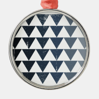Dark Blue Gradient Silver-Colored Round Decoration