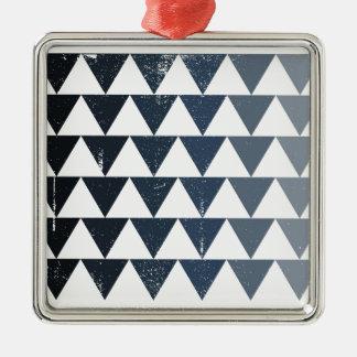 Dark Blue Gradient Silver-Colored Square Decoration