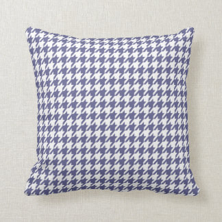 Dark Blue-Gray Houndstooth Cushion
